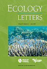 couverture Ecology Letters
